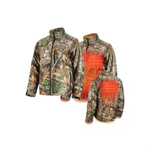 222C-20 - Heated Jacket - QUIETSHELL Only (REALTREE CAMO) - MILWAUKEE