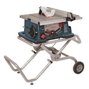 Scie à table de chantier de 10po avec support à roues Gravity-Rise™
