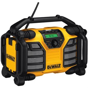 DCR015 20V / 12V MAX Job Site Radio Charger (Charges 12V MAX and 20V MAX Batteries) - DEWALT