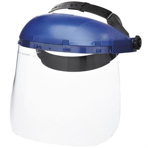 FACE SHIELD WITH RATCHETING HEADGEAR