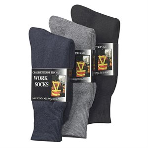 WOOL BLEND SOCK - BLACK / NAVY / BROWN (ASSORTED)