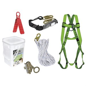 PEAKWORKS - V8257055 - COMPLIANCE ROOFER'S KIT - REUSABLE BRACKET - 2.5' (0.7 M) SP LANYARD - NON-INTEGRAL ADP ROPE GRAB - 50' (15.2 M) - RK5-50