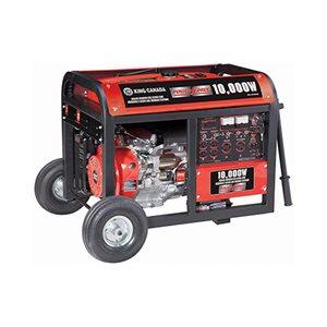 KCG-10000GE - Génératrice à essence 10,000W avec démarrage électrique et roues - KING CANADA