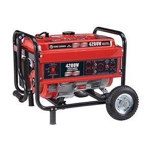 KCG-4200G - Génératrice à essence 4200W avec Ensemble de roues - KING CANADA