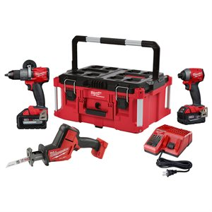 3 outils M18 FUEL avec grand coffre PACKOUT - Milwaukee Tool