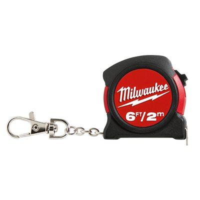 Ruban à mesurer porte-clés Milwaukee de 6pi / 2m
