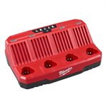 48-59-1204 - M12 4 BAY CHARGER - MILWAUKEE