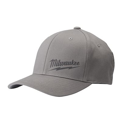 FLEX FITTED HAT - GRAY S / M