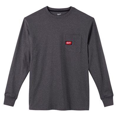 T-shirt à poche - Manches longues Gris 2X