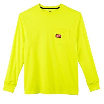 T-shirt à poche - Manches longues Hi Vis L