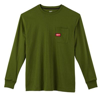 T-shirt à poche - Manches longues Vert 3X