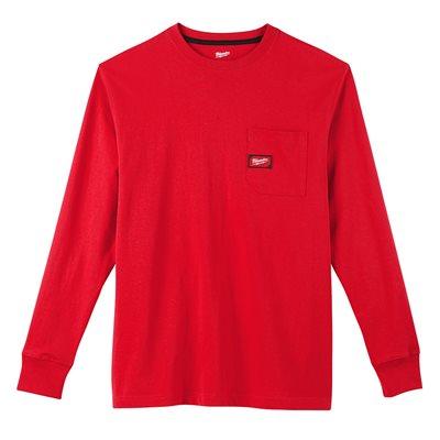 T-shirt à poche - Manches longues Rouge S